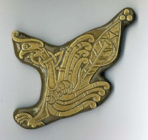 Book of Kells Bird Irish wall plaque